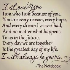 Classic quote from the one and only Nicholas Sparks.
