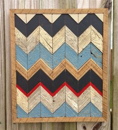 Rustic Reclaimed Chevron Pattern - Navy on Etsy, $125.00 Cool Wall Art, Wood Mosaic, Floor Patterns, Pallet Art, Rustic Wall Decor, Driftwood Art, Barn Quilts, Diy Woodworking, Wood Signs