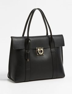 #SALVATOREFERRAGAMO Large Sookie Leather Satchel