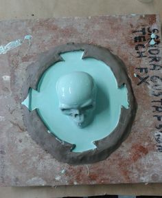 Technical work: making a silicone and fibreglass mould of a skull. Image 2. London College of Fashion © 2012 Sandra Gustafsson