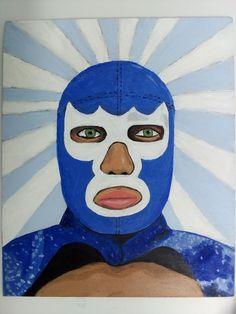 Autorretrato con mascara de Blue Demon por Itzcoatl Ordoñez 1220730625f