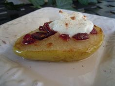 African Violet Baked Pears 024