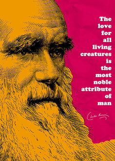 """Charles Darwin Quote Poster by pahleeloola. Use the coupon code, """"PIN10"""" for 10% off on your entire purchase! Click to buy and print!"""