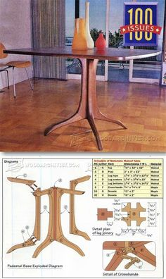 Maloof Style Table Plans - Furniture Plans and Projects | WoodArchivist.com