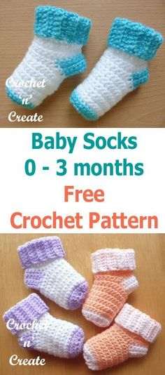 Free crochet pattern for baby socks, keep those little toes warm and cosy.