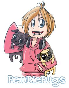 PewDiePugs by TooNo on deviantART