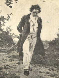 Ludwig van Beethoven born 1770 - 1827. // I wonder: was photography inventend *that* early? Off to check...