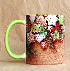 """Чашка """"Мятный пряник"""" 350 мл керамика, сублимационная печать 12$"""
