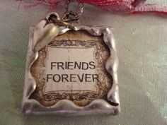 FRIENDS FOREVER  Soldered Art Glass Pendant by victoriacharlotte, $10.00