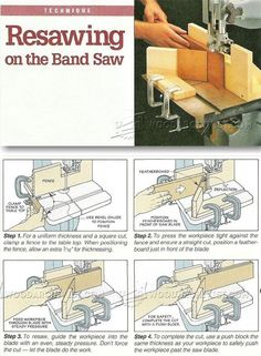 Resawing on Band Saw - Band Saw Tips, Jigs and Fixtures | WoodArchivist.com