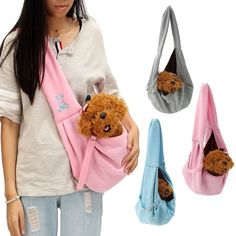 Reversible Small Dog Cat Sling Carrier Bag Travel Double Sided Pouch Shoulder Carry Handbag - Outfits For Small Dogs Sling Carrier, Cat Carrier, Pet Sling, Shoulder Sling, Shoulder Bag, Pet Bag, Small Dogs, Small Breed, Small Dog Breeds
