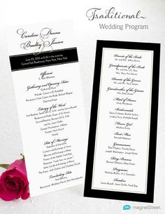 Traditional Wedding Program Wording Template from MagnetStreet