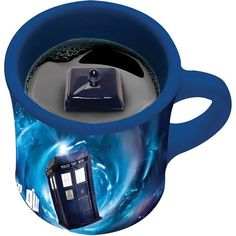 A TARDIS within a TARDIS? The whole universe is about to implode as your mind is completely blown by this Doctor Who TARDIS Inside Mug. Yes, there is a TARDIS in this TARDIS mug.  With this clever mug, as you sip your drink, you reveal the mini TARDIS inside. This cup is bigger on the outside,