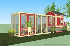 home garden plans: L102 - Chicken Coop Plans Construction - Chicken Coop Design - How To Build A Chicken Coop