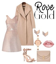 """""""R"""" by dougie950 ❤ liked on Polyvore featuring Miss Selfridge, Gianvito Rossi, Chloé, Movado, FOSSIL and Lime Crime"""