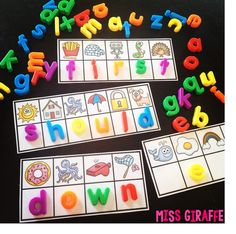 Hey guys! You may remember my Secret Sight Words post from awhile back where I showed you my sight word activity cards where students build the sight words with bottle caps with letters written on the