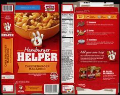 General Mills - Hamburger Helper - Cheeseburger Macaroni - product package box - June 2013