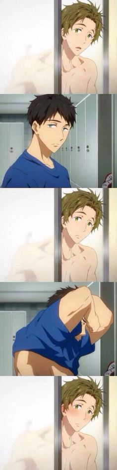 Yamazaki Sousuke x Tachibana Makoto WAAAAAA!!!! My alternative otp is damn hot! Yeah!