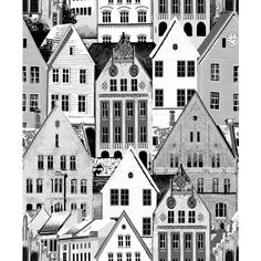 Bergen by Vallila - Red - Wallpaper : Wallpaper Direct Geometric Wallpaper Murals, Scenic Wallpaper, Red Wallpaper, Contemporary Wallpaper, Wallpaper Panels, Pattern Wallpaper, Bergen, Norwegian House, Buy Wallpaper Online