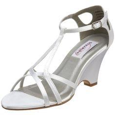 Dyeables Women's Suzette T-Strap Wedge Sandal,White Satin,6 M US Dyeables,http://www.amazon.com/dp/B002WPZDLC/ref=cm_sw_r_pi_dp_PMttrb1F75F247BD