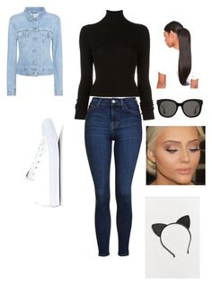 """""""Day two of school 📚"""" by nariviahoyos on Polyvore featuring Acne Studios, Topshop, BLK DNM, Converse, Gentle Monster and Urban Outfitters"""