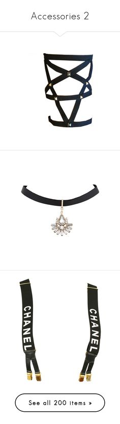 """""""Accessories 2"""" by starz-official ❤ liked on Polyvore featuring accessories, belts, jewelry, lingerie, garter, fillers, necklaces, acc, choker jewelry and choker necklaces"""