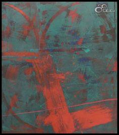 """""""Sin título"""". J. Doña.  Técnica mixta sobre tabla. DImensiones: 170 x 195 cm"""