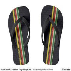 2ec3750d6087 HAMbyWG - Mens Flip-Flops Mixed Stripes Flip Flops Striped Flip Flops