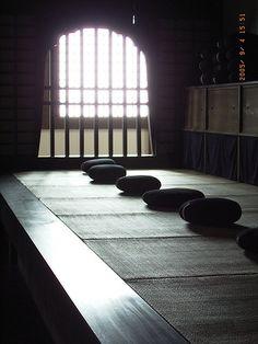 Zazen room at Zuiryuji temple, Gifu, Japan