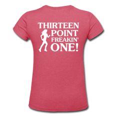"Women's ""iRun v13.1"" Heather Jersey T-Shirt......  I love this for my Tinkerbell 1/2 Marathon!"