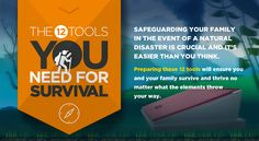 12 Tools You Need For Survival - Infographic
