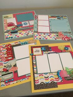 Love,love this double two page layout kit reads just in time for all those summer events! Using a summery Eco Park paper line:)