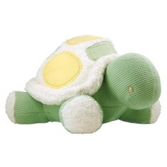 Organic plush turtle for the nursery
