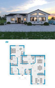 Plana 138 - schlüsselfertiges Massivhaus Bungalow
