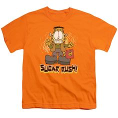 """Checkout our #LicensedGear products FREE SHIPPING + 10% OFF Coupon Code """"Official"""" Garfield / Sugar Rush - Short Sleeve Youth 18 / 1 - Garfield / Sugar Rush - Short Sleeve Youth 18 / 1 - Price: $29.99. Buy now at https://officiallylicensedgear.com/garfield-sugar-rush-short-sleeve-youth-18-1"""