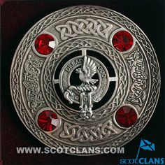 Munro Clan Crest Plaid Brooch