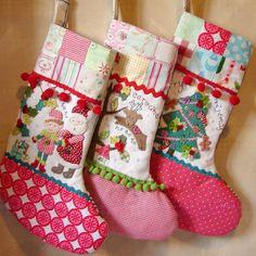 adorable christmas stockings! #etsy