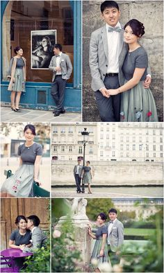 Asian Engagement portrait session in Paris | Image by WeddingLight Photography