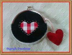 Eugrafe Creaciones: Monedero corazón