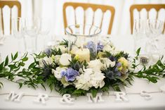 Wedding Top Table Flowers http://www.hannah-may.co.uk/