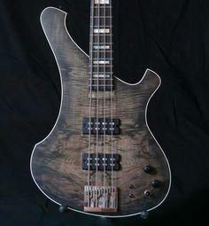 """Bass Player Magazine「A CG Lutherie Custom """"Rottenbacker"""" Bass. #bassgram #instabass #bassgram #bassplayer #bassplayermag」"""
