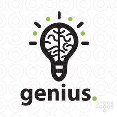Logo Sold logo design that combines a stylized brain inside a lightbulb design