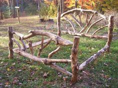 scotch pine king log bed  www.brokenbalsams.com