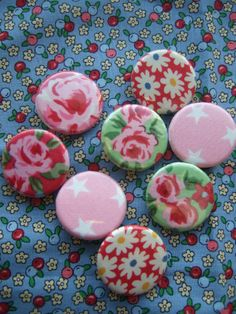 Pretty selection of badges which can be found at www.theblueberrypatch.co.uk