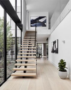 Modern Staircase Design Ideas - Stairs are so usual that you don't give them a second thought. Take a look at best 10 instances of modern staircase that are as stunning as they are . Interior Design Examples, Interior Design Inspiration, Decor Interior Design, Design Ideas, Interior Design Photography, Interior Designing, Design Design, Style Inspiration, Interior Stairs