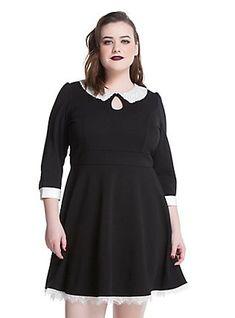 222b74769642 American Horror Story: Murder House Maid Skater Dress Plus Size, BLACK Plus  Size Skater