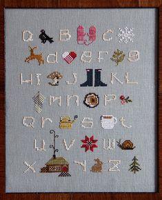 Winterwoods ABCs Cross Stitch Sampler Pattern [need to buy]