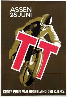 1935 Dutch TT | Tourist Trophy Motorcycle Race | TT Circuit of Assen, Netherlands | International Grand Prix Motorcycle Racing | Classic Retro Vintage Race Title, Poster, Program