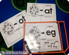 CVC word word for Kindergarten and First Grade. Students blend onsets & rimes and distinguish between real and nonsense words. First Grade Phonics, First Grade Activities, Word Work Activities, Literacy Activities, Reading Activities, Nonsense Words, Cvc Words, Reading Skills, Teaching Reading