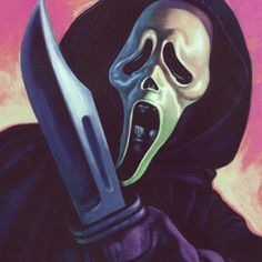 Ghostface from. Wes Craven's SCREAM horror movie Best Horror Movies, Scary Movies, Classic Horror Movies, Comedy Movies, Ghostface Scream, Arte Cholo, Scream Movie, Horror Scream, Scream 1